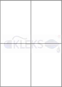 Etykiety samoprzylepne 105x148mm - Arkusz A4