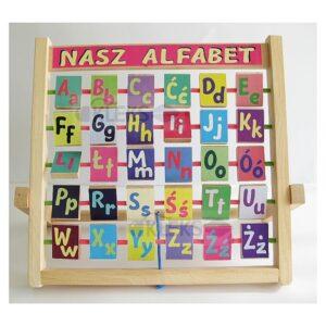 Alfabet obrotowy drewniany - OBRAZKOWY