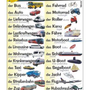 die Verkehrsmittel - Tablica edukacyjna 70x100 cm
