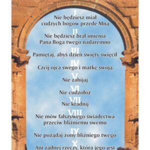 Dziesięć przykazań Bożych – Tablica edukacyjna 70x100 cm