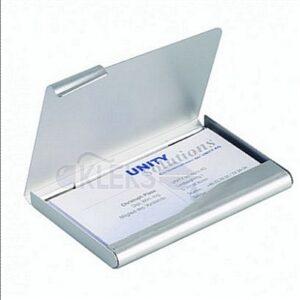 ETUI aluminiowe na wizytówki 90 x 55mm. 20 wizytówek