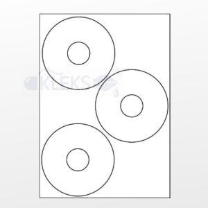 Etykiety naklejki na płytę CD E-CD-01