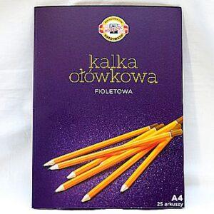 Kalka ołówkowa 25 arkuszy A4 - FIOLETOWA