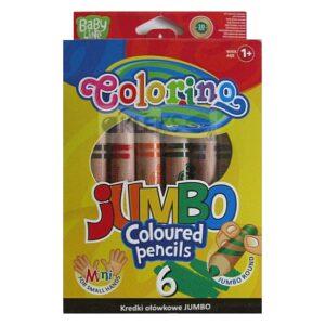 Kredki 6 kolorów dla maluchów BABY JUMBO Colorino