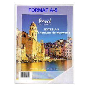 Notes z kartkami do wyrywania A5 - KRATKA