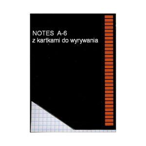 Notes z kartkami do wyrywania A6 - KRATKA