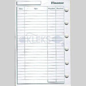 Wkłady do organizera A7 - FINANSE