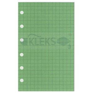 Wkłady do organizera A7 - KRATKA - ZIELONE