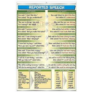 Reported Speech - Tablica edukacyjna 70x100 cm