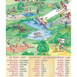 der Sport - Tablica edukacyjna 70x100 cm