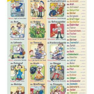 die Berufe - Tablica edukacyjna 70x100 cm