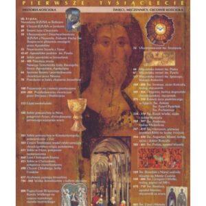 Dzieje Chrześcijaństwa – I tysiąclecie – Tablica edukacyjna 70x100 cm