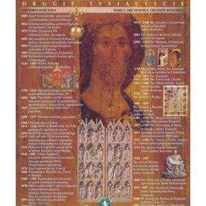Dzieje Chrześcijaństwa – II tysiąclecie – Tablica edukacyjna 70x100 cm
