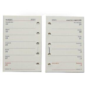 Wkłady kalendarzowe A8 - 2021r. TYDZIEŃ NA STRONIE - ECCRU