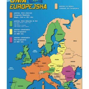 Mapa Unii Europejskiej – Tablica edukacyjna 70x100 cm