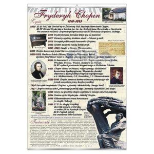 Fryderyk Chopin - życie i twórczość Tablica edukacyjna 70x100 cm