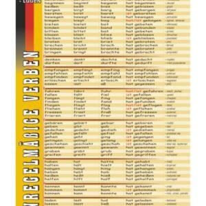 Unregelmäßige Verben: backen-lügen - Tablica edukacyjna 70x100 cm