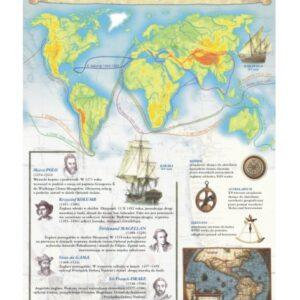 Wielkie odkrycia geograficzne – Tablica edukacyjna 70x100 cm