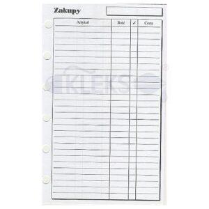 Wkłady do organizera A7 - ZAKUPY
