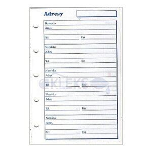 Wkłady do organizera A8 - ADRESY