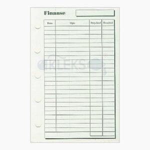 Wkłady do organizera A8 - FINANSE