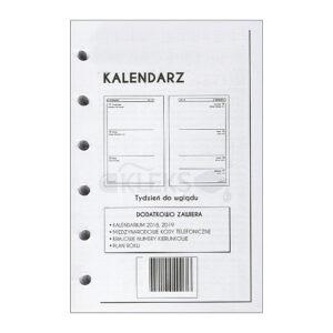 Wkłady do organizera A7 - KALENDARZ 2021r - 3 DNI NA STRONIE